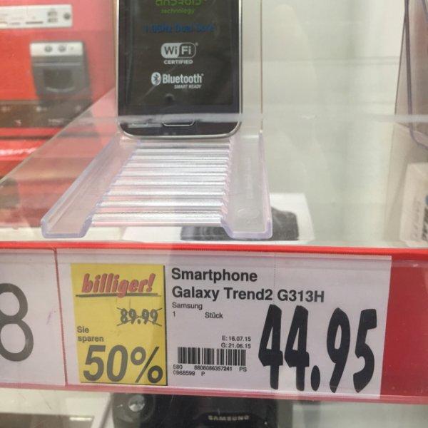 44,95€ Samsung Galaxy Trend 2 - G313H [Kaufland Velbert]