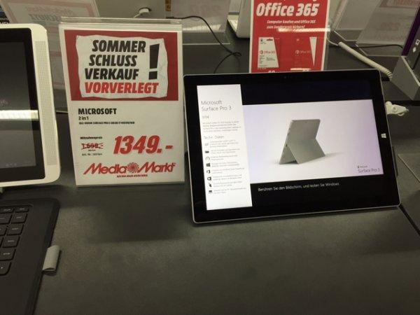 Surface Pro 3 i7 256GB Media Markt Paderborn