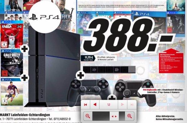 PS4 Bundle (2 Controller + Kamera + 3 Spiele) für 388,- € | Media Markt Leinfelden-Echterdingen
