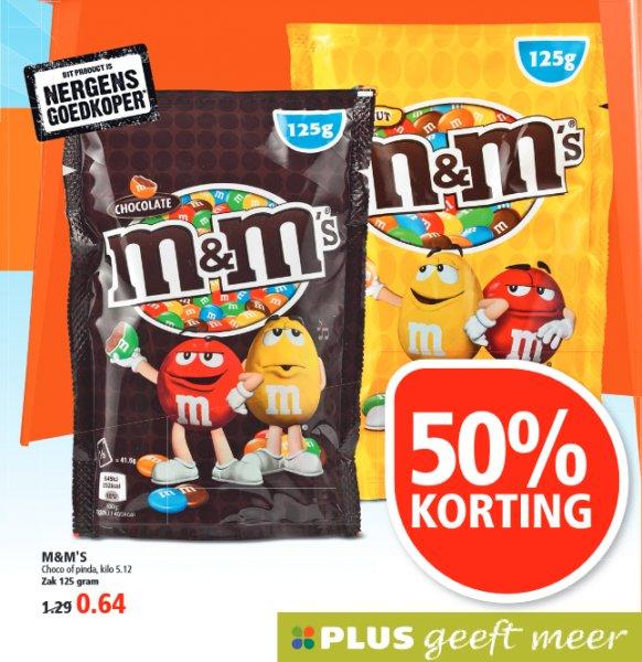 [GRENZGÄNGER NL] PLUS - M&M's -50% - 125g für 0,64 Euro