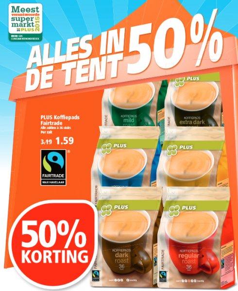 [GRENZGÄNGER NL] PLUS - Kaffee Pads Bio Fairtrade -50% - Packung mit 36 Stück für 1,59 Euro