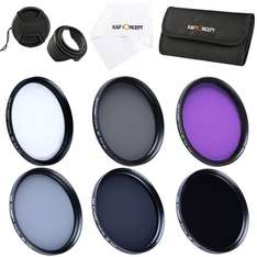 10 teiliges 67mm UV CPL FLD ND2 ND4 ND8 Set Filterset nur 26,99 EUR@Amazon FBA