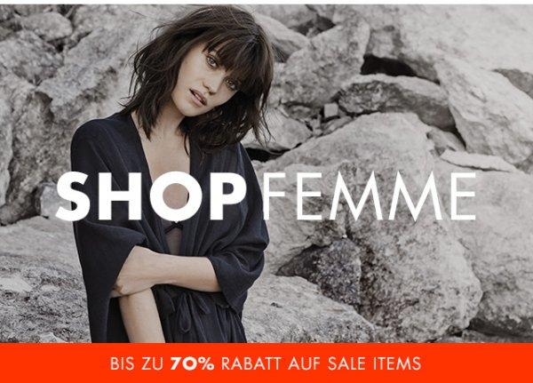 Selected online sale: Teilweise 70% Rabatt oder 20% Rabatt für Kundenclub Anmeldung