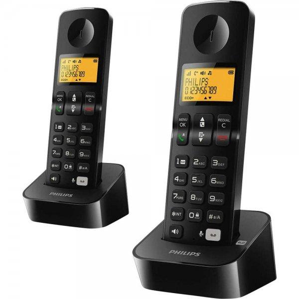 Philips B1962B/38 Schnurloses Telefon (2 Mobilteile) inkl. Anrufbeantworter für 29,44€ @Conrad.de