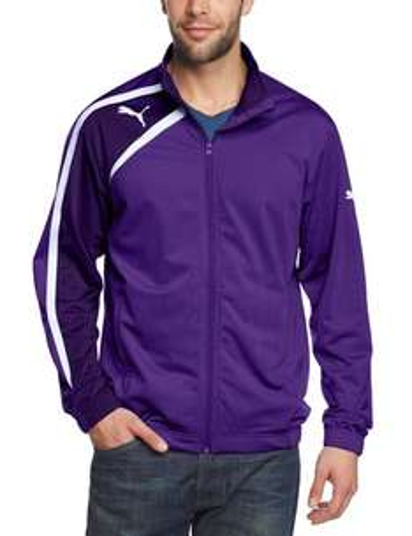 PUMA Herren Jacke Spirit Poly Jacket / Purple - White / Größen S, XL, XXL /und Größe S in Grün zum Preis von 11,98 € zzgl. Versandkosten  / @Amazon