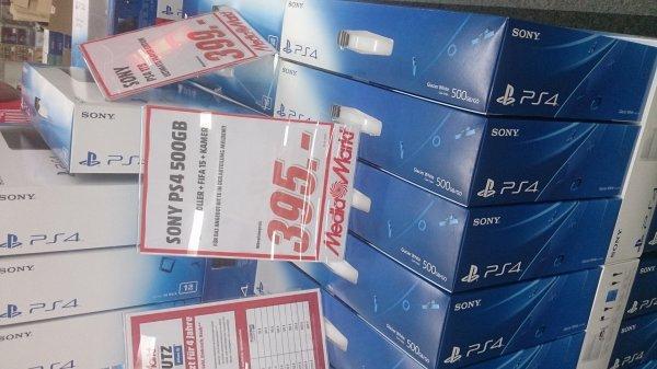 [lokal Weiterstadt][MediaMarkt] PS4 weiß 500GB + FIFA 15 + 2. Controller + Kamera 395€