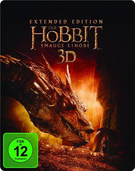 Der Hobbit: Smaugs Einöde Extended Edition 2D/3D BD Steelbook (exklusiv bei Amazon.de) [3D Blu-ray] für 21,97 € > [amazon.de]