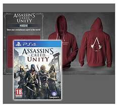 Assassin's Creed Unity Hoodie (Original by Ubisoft) Größe L + PS4 SPIEL: Assassins Creed Unity / @Amazon
