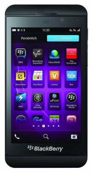 BlackBerry Z10 - Schwarz (Ohne Simlock) Smartphone - Händler, OVP, Wie Neu @ebay 139€