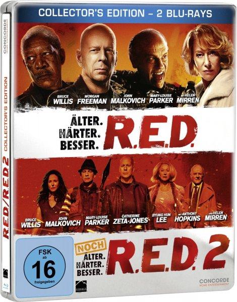 R.E.D. - Älter. Härter. Besser/R.E.D. 2 - Noch Älter. Härter. Besser - Steelbook [Blu-ray] für 9,99€ @Amazon.de (Prime)