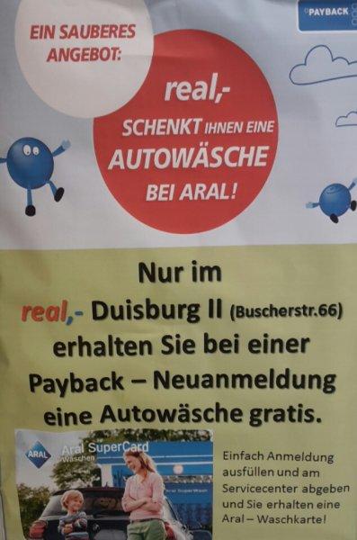 (Duisburg) Freie Autowäsche bei Aral