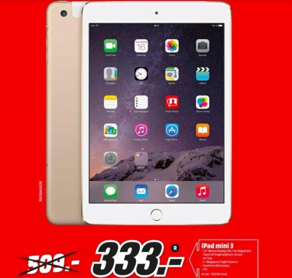 [Köln Media Markt Hohe Straße] iPad Mini 3 LTE 333€ 16GB