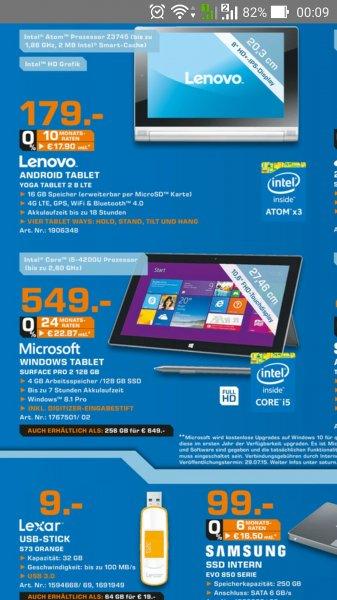 @Saturn Hamburg: Surface Pro 2 128GB ab 549€