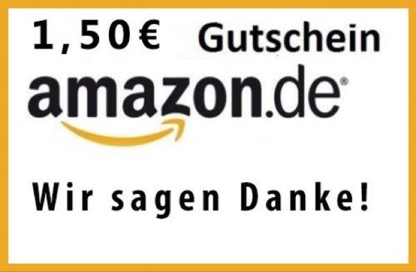 1,50€ Amazon Gutschein für 1€ @ ebay