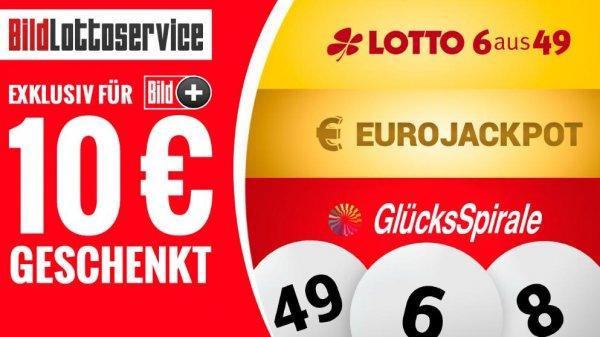 10€ Lottogutschein + evtl. 5€ Amazon-Gutschein für max. 0,99€ / Gratis- Lotto für Bildplus-Abonnenten und Superticket-Besitzer BildLottoservice Startaktion