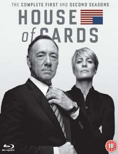 House of Cards - Staffel 1-2 [Blu-ray] (8 Discs) inkl.Vsk für ~ 28 € > [amazon.uk]