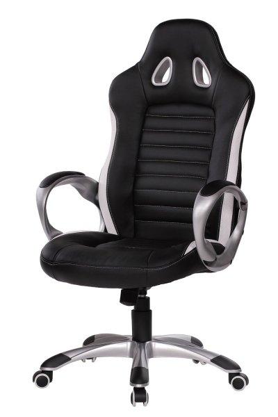 Amstyle Racer Sport Bürostuhl - Chefsessel Kunstleder schwarz für 99,86€