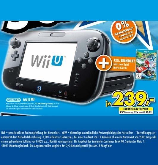 [Lokal Kamen & Menden] Nintendo Wii U Premium Pack Mario Kart 8