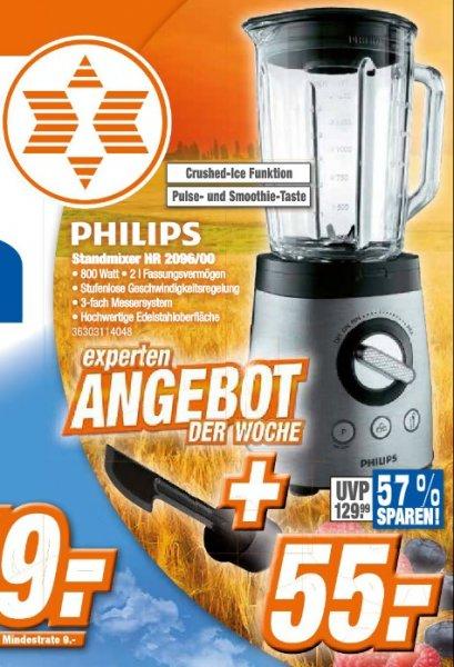 [Lokal Expert Klein] PHILIPS Standmixer HR2096/00, 800W, 2l-Glasbehälter, Ice-Crush-Funktion, Edelstahl, ProBlend 6-Technologie für 55€
