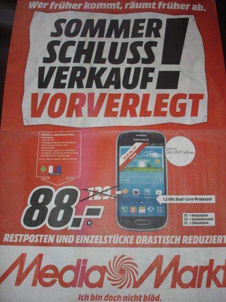 (Lokal: Media Markt Lüneburg) Samsung Galaxy S3 mini GT-I8200 für 88,00 Euro