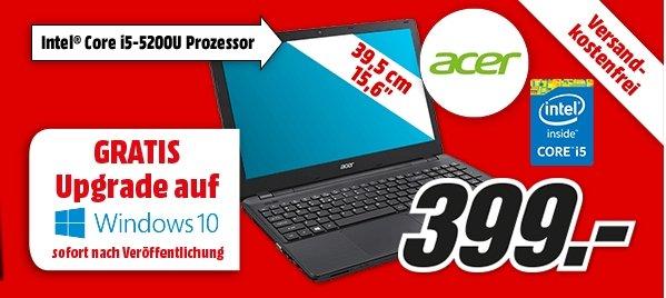 [Mediamarkt] Schnapp des Tages►Acer Aspire E5-571 Notebook, I5 CPU,4GB Ram,15 Zoll,1TB Festplatte für 399,-€ Versandkostenfrei