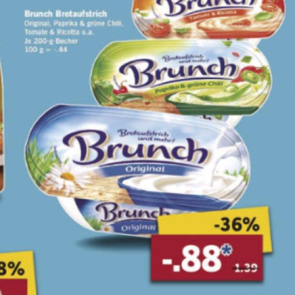 Brunch Brotaufstrich bei Lidl 36% Rabatt