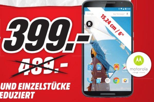 [Lokal Mediamarkt Zwickau] Motorola Nexus 6 Smartphone (15,2 cm (6 Zoll) Quad-HD-Display, 2x Frontlautsprecher, 2,7 GHz Quad-Core Snapdragon 805 Prozessor, 32GB interner Speicher, Android 5.0 Lollipop) weiß und blau für je 399,-€