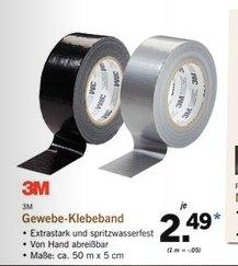 [Lidl Bundesweit ab Donnerstag 30.07] 3M Gewebeklebeband/Panzertape 50Meter Rolle für 2,49€***Aluminiumklebeband 3M 15Meter Rolle für 1,49€ und weitere Klebebänder