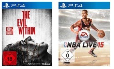 [Saturn] NBA Live 2015 (PS4) oder The Evil Within (PS4 *Ausverkauft*und Xbox One) für je 15€ Versandkostenfrei