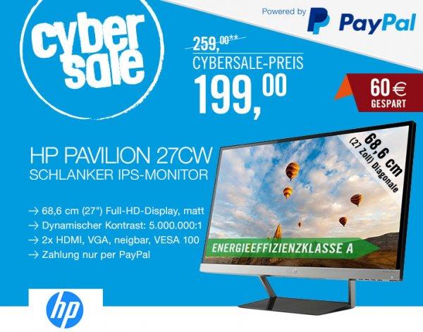 [Cyberport Cybersale] HP Pavilion 27CW 16:9 FullHD IPS-Monitor