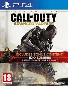 game.co.uk - Call of Duty: Advanced Warfare Gold Edition + DLC 1 EXO ZOMBIES / Preis: 34,00 € inkl. Versand / Vergleichspreis: 64,99 € / Deutsch Spielbar