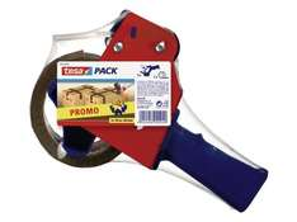 (bauhaus) Tesa Tesapack Handabroller  (Inkl. braunes Packband 50 m x 48 mm, Rot/Blau) für 4,50 EUR inkl. Versand