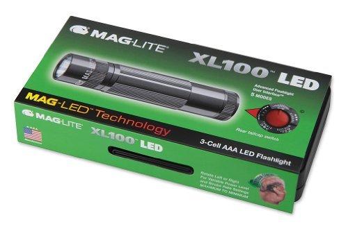 [Amazon-Prime] Mag-Lite XL100-S3097 LED-Taschenlampe XL100, 83 Lumen, 12 cm titan-grau in Box mit 5 Modi, Motion Control u. elektron. Multifunktionsschalter