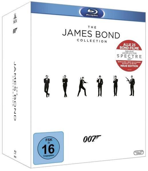 Bond BD Collection inkl. Leerplatz Spectre & Bonus Disc & 52-seitiges Booklet (24 Discs) [Blu-ray] inkl. Vsk für 116,45€ > [Buch.de]