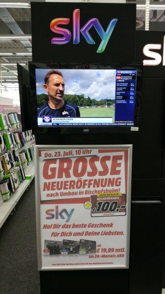 Media Markt Bischofsheim Sky Angebote ab 19,99 (verschiedene Konstellationen) inklusive 100€ Gutschein