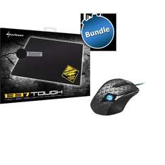 "Gaming Maus Drakonia Black  + Mauspad Sharkoon 1337 Pad ""Tough"""