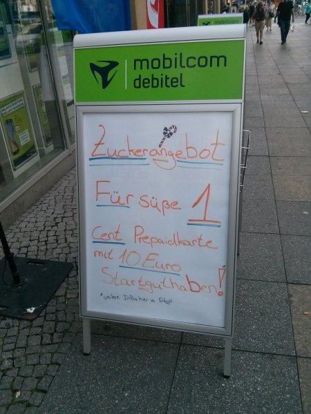[Lokal - Berlin Wedding] klarmobil Prepaid mit 10€ Startguthaben für 1 cent