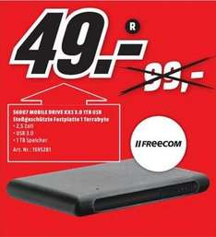 [LOKAL - Mediamarkt Mülheim] 1 TB Festplatte USB 3.0 von Freecom
