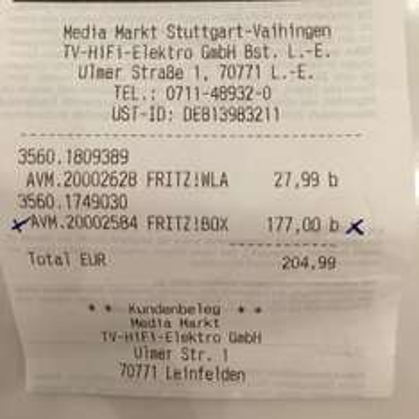 AVM Fritz!Box 7490 Lokal MM Leinfelden-Echterdingen 177€