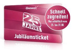 [Deutschlandweit] 25 Tage Cinemaxx Kino Flatrate für 25€ [inkl. 3D]