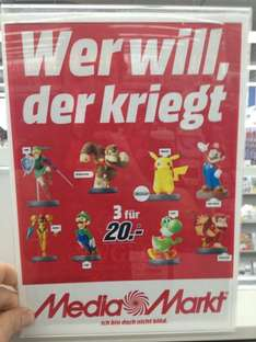 [Lokal] Media-Markt Bad Kreuznach & Worms 3 Amiibos für 20€