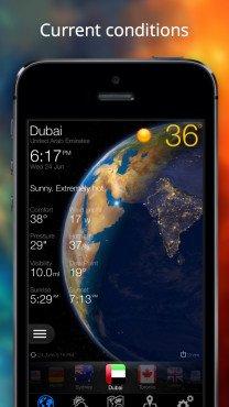 [IOS] Wetter jetzt - Prognose und 3D-Erde. Free anstatt ca 2.99