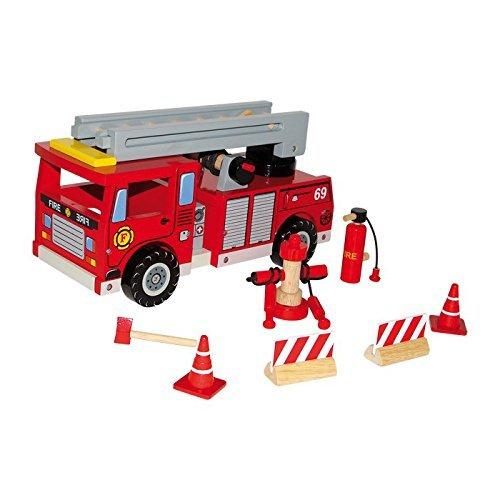 [Amazon-Prime] Legler Feuerwehrholzwagen mit Zubehör