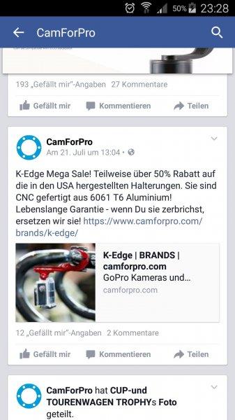 K-Edge Fahrradhalterung für die GoPro bis zu 50% Reduziert + 30% Rabattcode + 10€ Gutscheincode