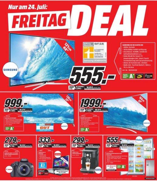 [MM Dortmund] Samsung TV UE48H6470 / Haier HRF 628 DF6 Side by Side Kühlschrank je 555€ und andere Freitagsdeals