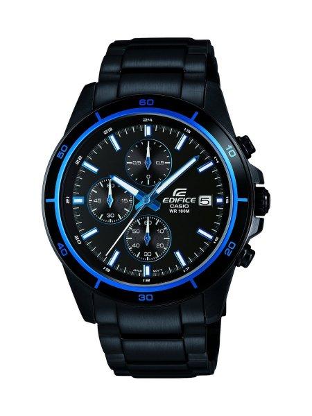 [Blitzangebot] Casio Herren-Armbanduhr XL Edifice Analog Quarz Edelstahl EFR-526BK-1A2VUEF für 105,99€ @Amazon