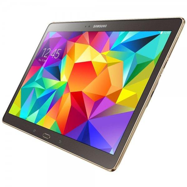 Samsung Galaxy Tab S 10.5 WiFi bronze, weiß oder grau - 10,5'' | Exynons 5 Octa | 2560 × 1600 px AMOLED | 3 GB RAM | 16 GB Flash (erweiterbar) für 339 €