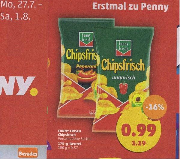 [Penny] Funny-frisch Chipsfrisch (versch. Sorten, je 175 g) für 0,99 €