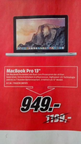 """MacBook Pro 13"""" (MD101) PVG: ab 1019€ [@MediaMarkt Mittelfranken]"""