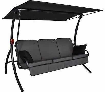 Angerer Primero Style Hollywood-Schaukel, 3-Sitzer mit Liegefunktion, Farbe: grau, für 423,81 € statt 549,99 €, @Amazon